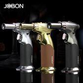 點煙器防風雪茄打火機個性高溫大焊槍充氣噴槍戶外燒烤便攜式直沖點火器