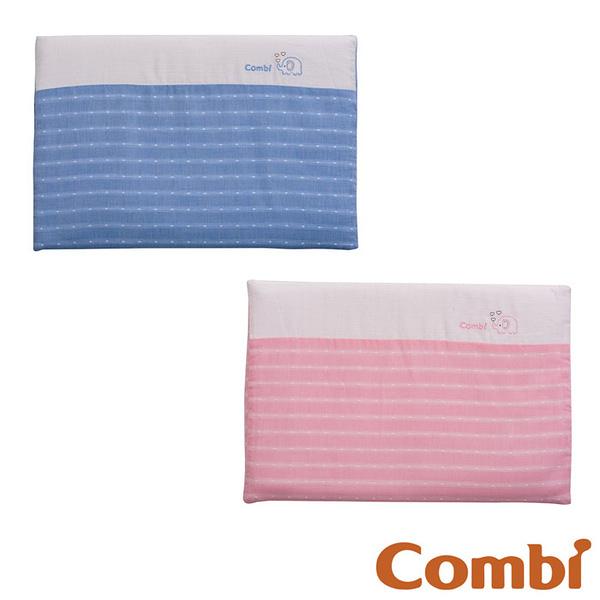 【愛吾兒】Combi 康貝 和風紗透氣塑型枕-藍/粉(71030/71031)