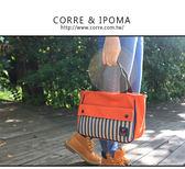 CORRE【CG71074】帆布印刷條紋手提斜背包