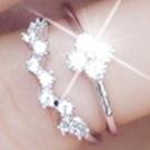 925純銀戒指鑲鑽-生日情人節禮物雙層四葉草獨特美艷百搭女飾品73ae5[巴黎精品】