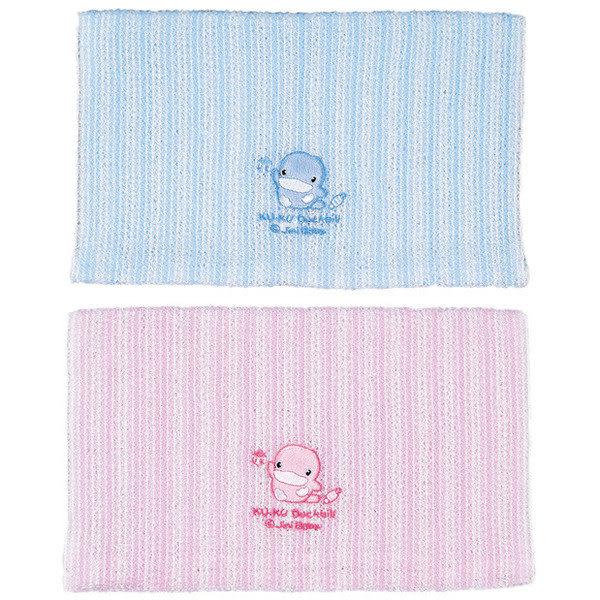 【奇買親子購物網】酷咕鴨KU.KU. 條紋沐浴巾(藍色/粉色)