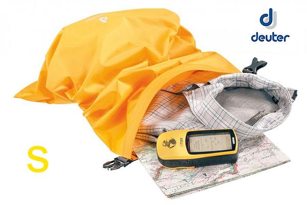 丹大戶外用品【Deuter】德國light sack dry防水防雨收納袋1L/相機手機束口袋 39680 金黃S