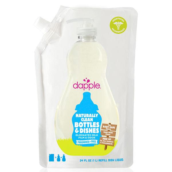 dapple 奶瓶及餐具清潔液-無香精1L(補充包)【屈臣氏】