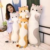毛絨玩具 貓咪毛絨玩具長條夾腿睡覺抱枕床上公仔玩偶布娃娃抱抱熊可愛女生 茱莉亞
