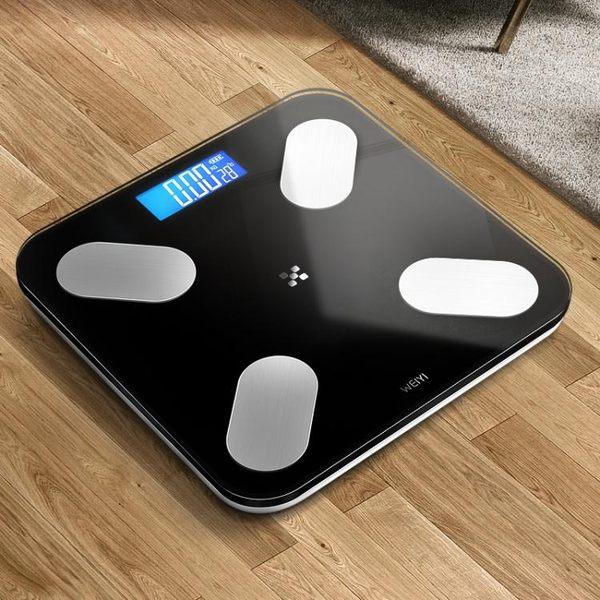 智能秤電子秤體重秤家用成人精準人體測脂肪體質電子稱女【完美3c館】