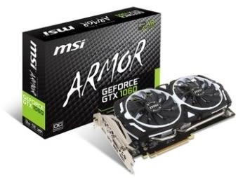 【超人百貨X】MSI GTX 1060 ARMOR 3G OCV1鎧甲虎 支援 DirectX 12