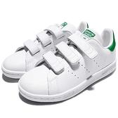 adidas 休閒鞋 Stan Smith CF C 白 綠 基本款 魔鬼氈 童鞋 中童鞋【ACS】 M20607