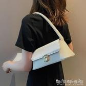 法國小眾包包女新款潮韓版百搭單肩小包質感時尚手提包法棍包 晴天時尚