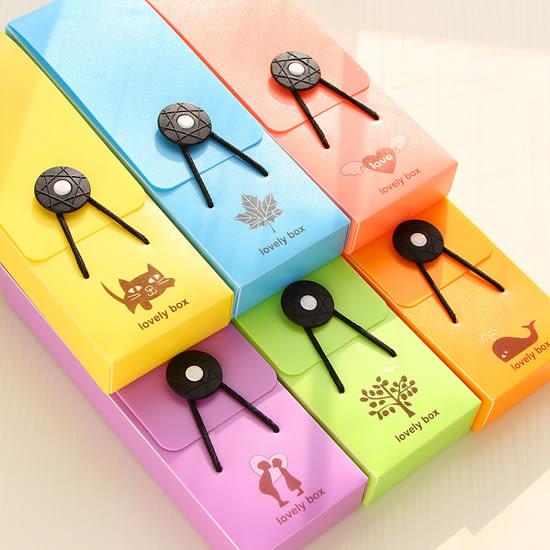 ✭米菈生活館✭【P157】糖果色鬆緊扣鉛筆盒 文具 學生 辦公用品 文具盒 可愛 簡潔 鬆緊帶