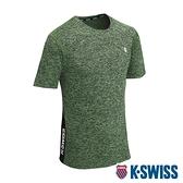 K-SWISS Whs Panel Logo Tee排汗T恤-男-綠