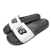 New Balance 拖鞋 SMF 200 D 白 黑 大Logo NB 男鞋 女鞋 涼拖鞋 【PUMP306】 SMF200F1D