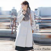 ❖ Hot item ❖ 【SET ITEM】氣質簡約長版大衣+柔軟感圍巾 - Green Parks