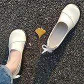 原宿小皮鞋女學生韓版百搭ulzzang大頭鞋復古軟妹單鞋女