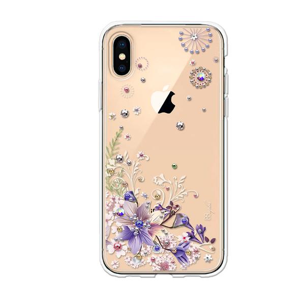 apbs iPhone XS / iPhone X 5.8吋施華彩鑽防震雙料手機殼-祕密花園