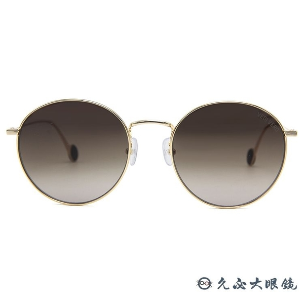 VEDI VERO 墨鏡 VE2090 BR (金) 圓框 太陽眼鏡 久必大眼鏡