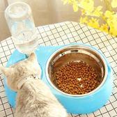 貓咪用品貓碗雙碗貓食盆不銹鋼碗飲水機自動喂食器貓盆狗寵物用品