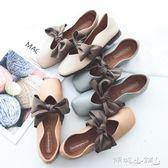 孕婦鞋 蝴蝶結平底奶奶鞋女韓版學生軟底淺口單鞋孕婦豆豆鞋 傾城小鋪
