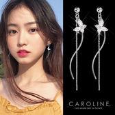 《Caroline》★韓國官網熱賣蝴蝶長款甜美浪漫風格時尚流行耳環69972