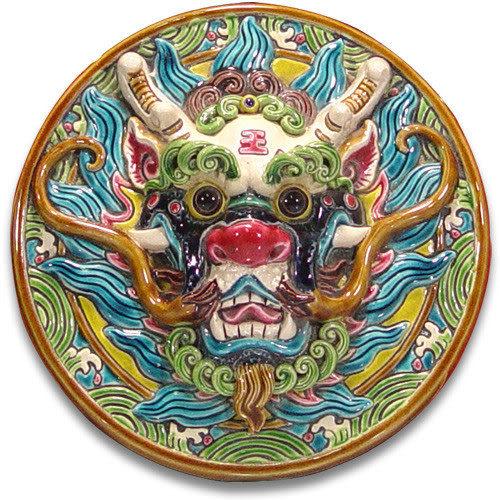鹿港窯-交趾陶居家開運裝飾壁飾~M龍王