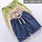 男女童棉麻短褲。ROUROU童裝。夏男女...