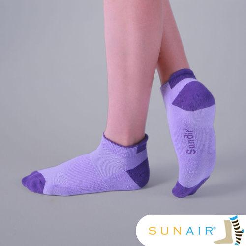 sunair 滅菌除臭襪子- 標準型運動船襪M(21~24.5) (深紫+淺紫) /SA0603