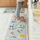 防油防水皮革廚房地墊-健康蔬果(大45x...