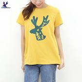 【秋冬新品】American Bluedeer -花草鹿印花T 二色