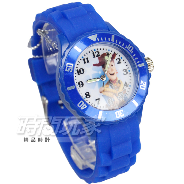 Disney 迪士尼 玩具總動員 牛仔胡迪警長 玩具 兒童手錶 橡膠 深藍 DU5-3041胡迪