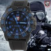 【萬年鐘錶】LUMINOX 雷明時  海豹部隊指標系列經典腕錶-黑x藍 47mm LM-A3053