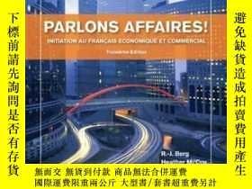 二手書博民逛書店Parlons罕見Affaires!: Initiation Au Fran?ais Economique Et