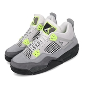 Nike Air Jordan 4 Retro SE GS Neon 灰 黃 女鞋 大童鞋 喬丹 4代 IV 籃球鞋【PUMP306】 CT5343-007