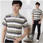 【大盤大】P16327 男 口袋上衣 商務 短袖POLO衫 條紋休閒衫 台灣製 寬鬆 基本款【2XL號斷貨】