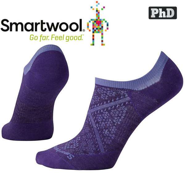 SmartWool Run SW0SW185-591山嵐紫 女 PhD跑步超輕隱形襪 美麗諾羊毛襪/機能排汗襪
