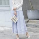 花樣蕾絲大裙襬長裙[11001-S]美之札