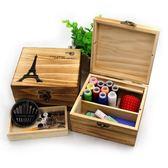 針線盒套裝家用中國風大號結婚木質手縫復古組合居家手工針線【交換禮物】