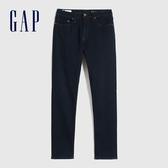 Gap男裝 時尚彈力中腰修身錐形牛仔褲 632096-深藍色