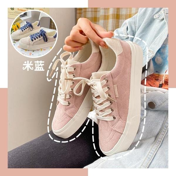 帆布鞋 粉色原宿板鞋女ins潮學生日系可愛帆布鞋ulzzang百搭春季新款 格蘭小舖