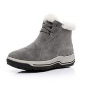 雪靴羊皮毛一體雪地靴女2018新款冬季保暖短筒棉鞋真皮加絨羊毛短靴女