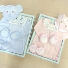 GMP BABY台灣製舒適寶貝條紋歐風兩用兔裝+帽彌月禮盒1組