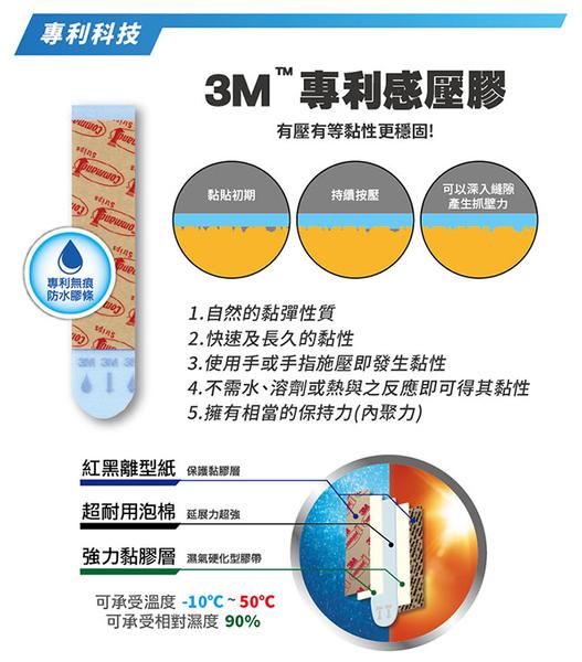 3M Command無痕防水中型掛鉤一般包 7100116411