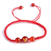 十二生肖守護神 本命年紅繩十二生肖手鍊 女款轉運飾品化太歲手串配飾