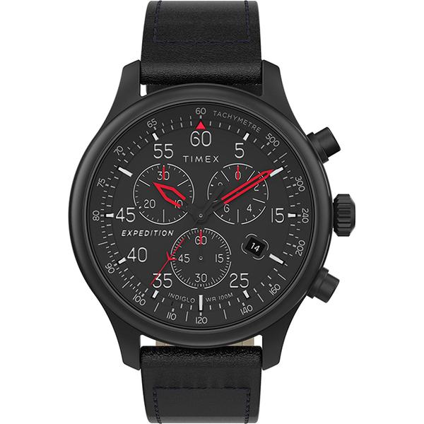 【TIMEX】 天美時 遠征系列 三眼計時手錶 ( 黑 TXTW2T73000)