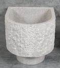 【麗室衛浴】 陽台拖布盆C-297-4 天然花崗石拖布盆 嘔吐盆 含網狀落水頭 手不用碰觸汙水