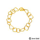 JoveGold漾金飾 美麗人生黃金手鍊