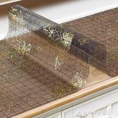 軟玻璃餐桌墊茶幾隔熱墊pvc防水防燙印花歐式塑料膠墊水晶板桌布  酷斯特數位3c
