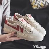 帆布鞋 小白鞋女2021夏款爆款百搭韓版帆布鞋女學生原宿ulzzang平底板鞋