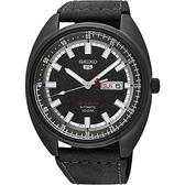 SEIKO精工 5號24石盾牌限量機械手錶-鍍黑/44mm 4R36-06E0SD(SRPB73J1)