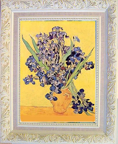 《黃瓶中鳶尾花》梵谷名畫