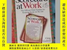 二手書博民逛書店英文原版罕見The Scorecard at Work by G