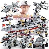 兒童益智力動腦拼裝玩具樂高積木男孩航母模型城市人仔【奇妙商舖】